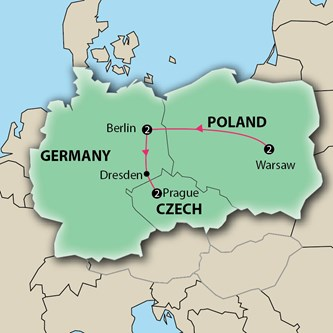 Map Of Germany Poland And Czech Republic.Low Unpublished Prices On Key Central European Triangle Poland Germany Czech Republic Escorted Vacation First Class