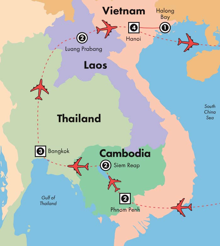 9ec5e44f1 Discovery By Gate1 Tours: 16 Day Gems of Southeast Asia - Sunday ...
