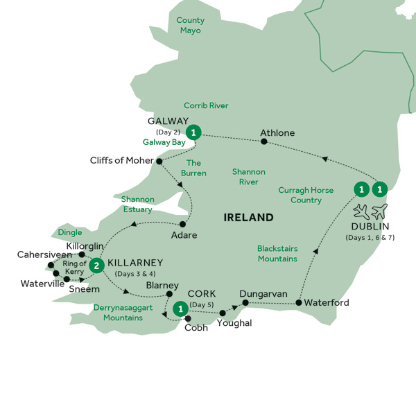 Map Of Ireland Showing Athlone.Low Unpublished Prices On Insight Vacations Focus On Ireland Summer 2019