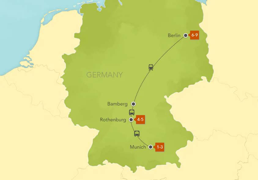 Map Of Germany Today.Adventures By Disney Tours Germany