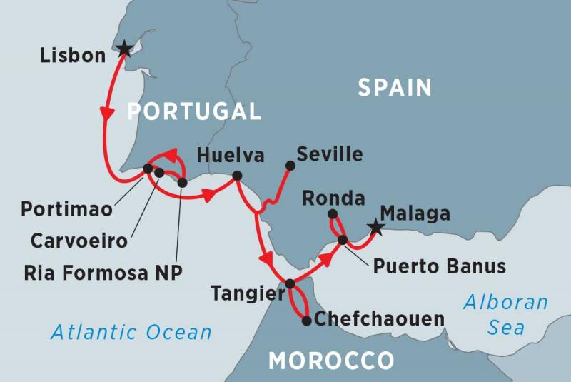 Cruising Spain Portugal And Morocco Lisbon To Malaga
