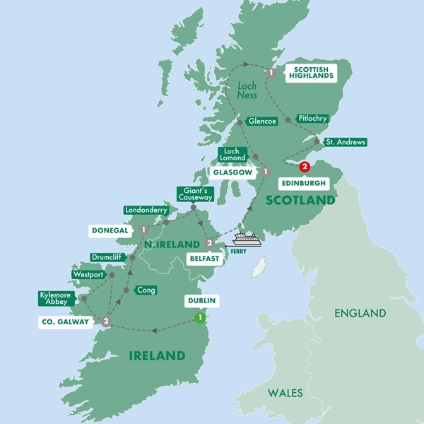 Ireland And Scotland Map Trafalgar Tours: Highlights of Ireland and Scotland Summer 2020