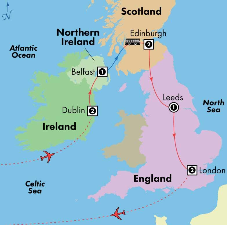 Gate1 Tours 10 Day Affordable Ireland Scotland England