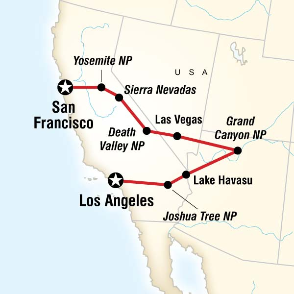 G Adventures Tours Los Angeles To San Francisco Express