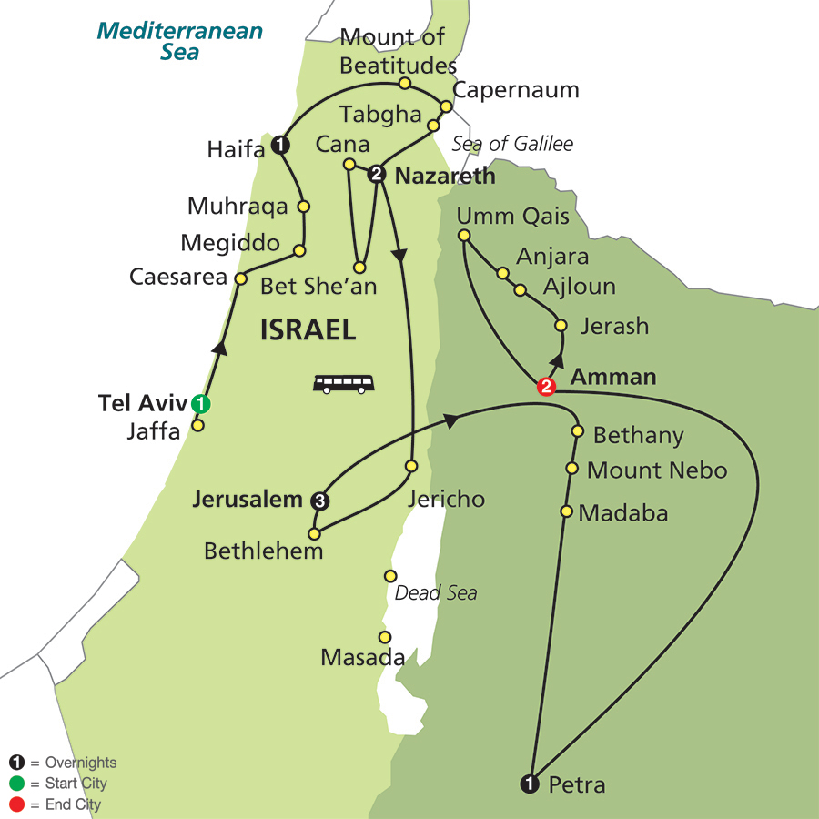 Cosmos Tours Holy Land Discovery With Jordan  Faithbased Travel