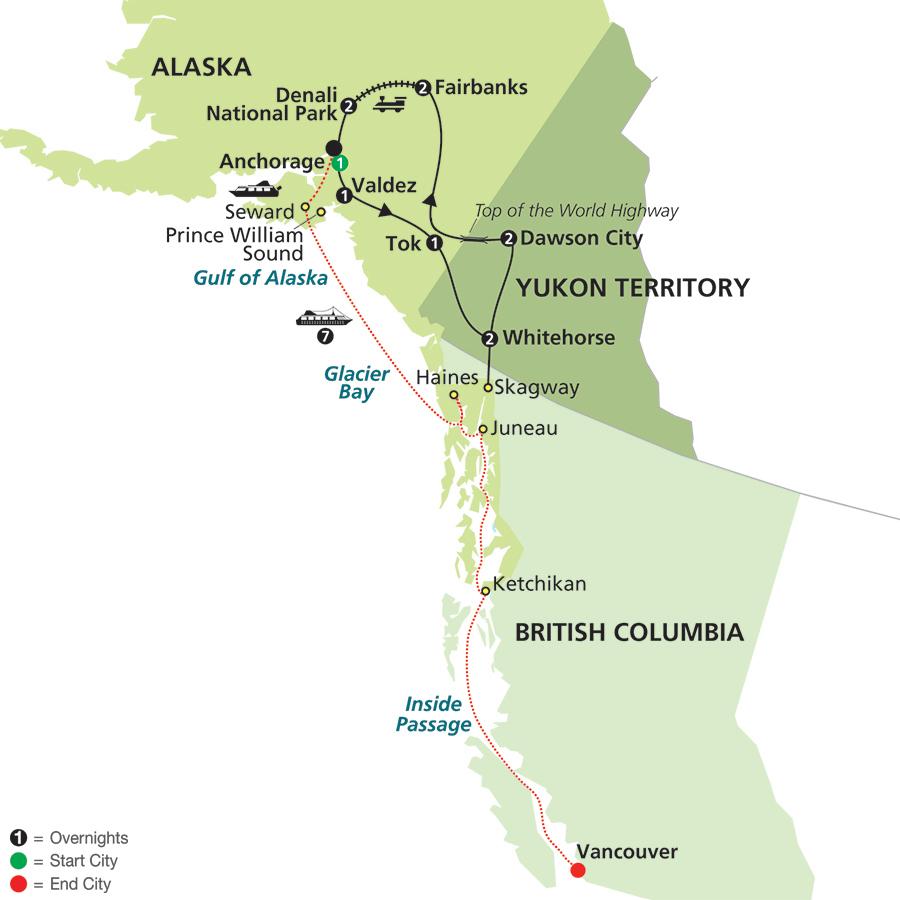 map of yukon territory and alaska