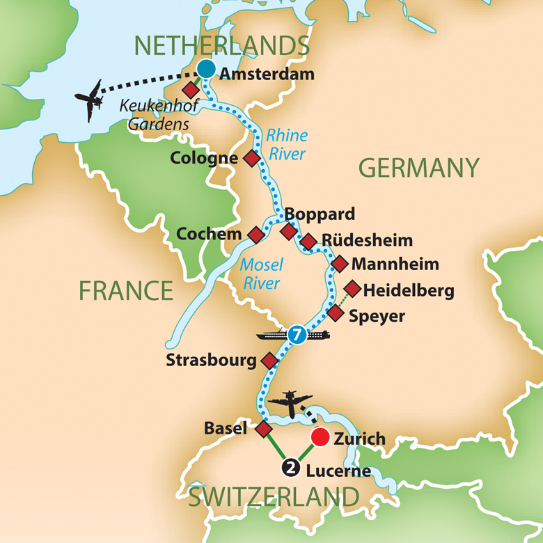 Mayflower Tours Tulip Time On The Romantic Rhine And