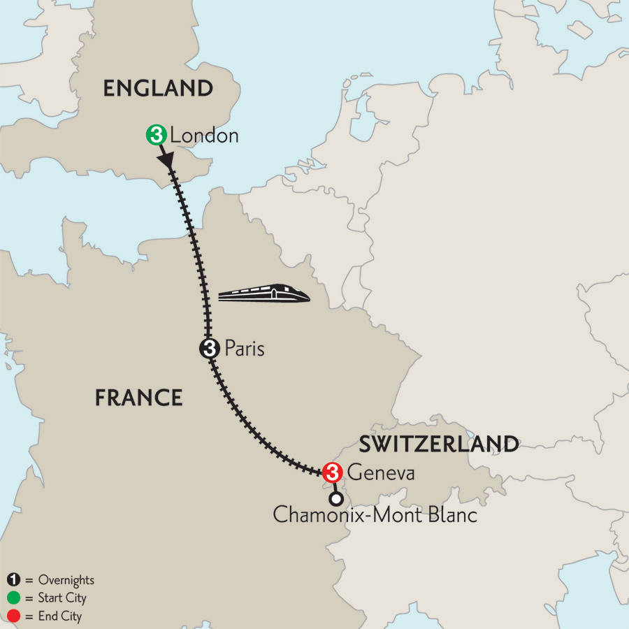 how to get from chamonix to paris by train