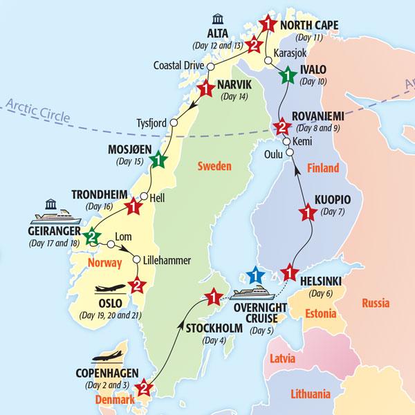 Full Europe Tour Itinerary Scandinavia