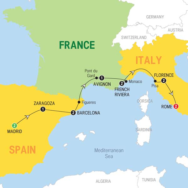Trafalgar Tours: Madrid to Rome 2016