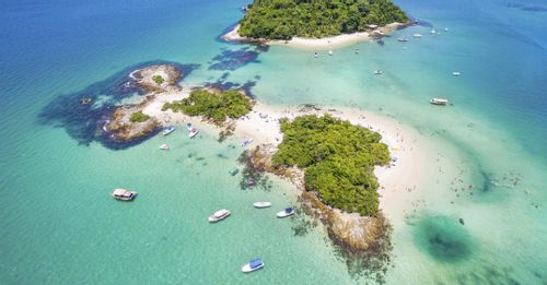 Take the ferry to Ilha Grande to experience a preserved natural island off the coast of Brazil