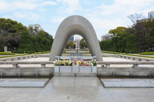 Take a moment to reflect on the tragic events at Hiroshima Peace Memorial Park