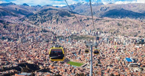 Take a cable car ride up to El Alto for the best viewpoint overlooking La Paz