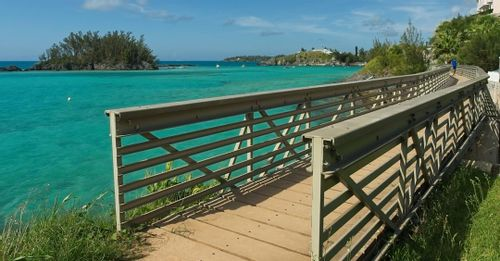 Take in the views on the Bermuda Railway Trail