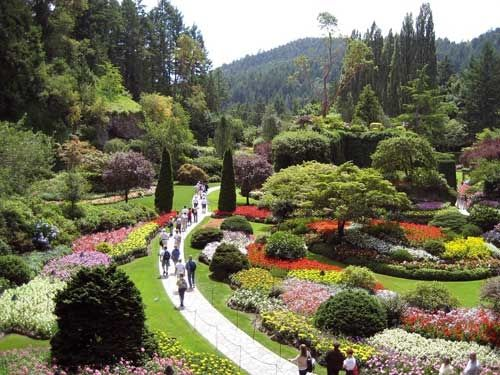 Enjoy the Flowers at the Butchart Gardens