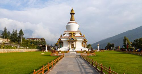 Enjoy the panoramic views of Thimphu from the top of the National Memorial Chorten