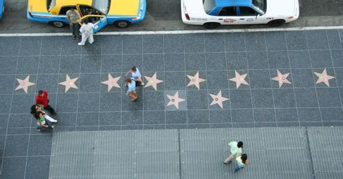 Stroll along the Hollywood Walk of Fame