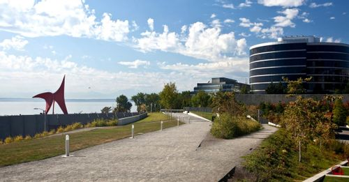 See the sculptures at Olympic Sculpture Park