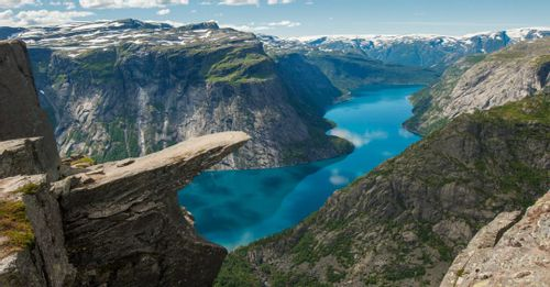 Check out the scenic Trolltunga rock formation
