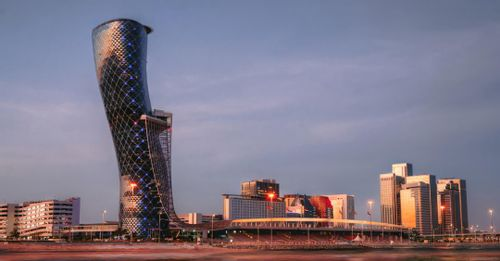 The Capital Gate Skyscraper
