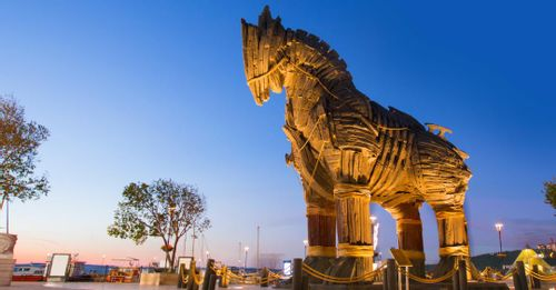 Decide which Trojan horse monument is the best to represent Troy