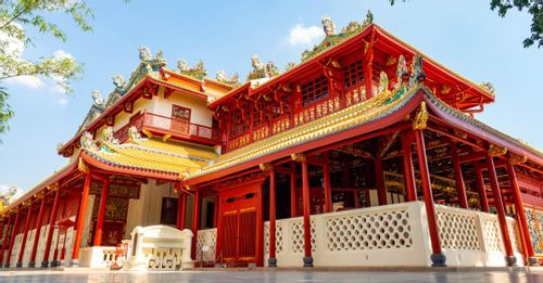 Explore the Bang Pa-In Palace to see how the royal family vacations in the summer