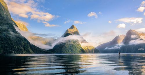 See Mitre Peak in Milford Sound