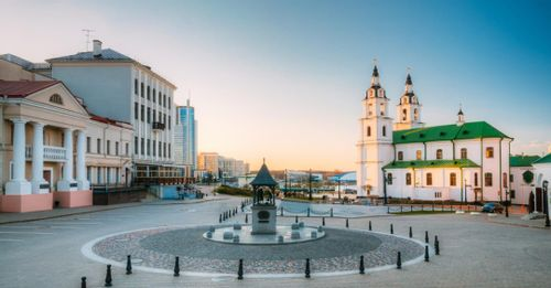 Take a walk through the recently restored Minsk Old Town