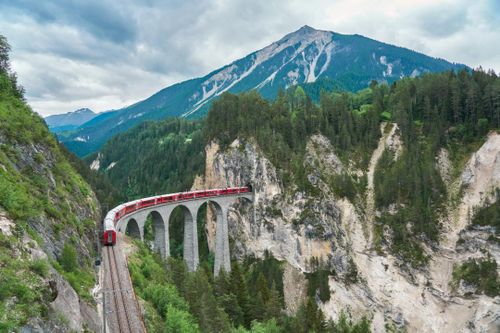 Ride an Alpine Train in Switzerland