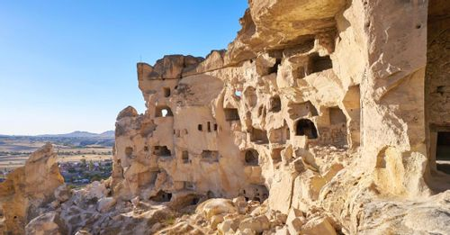 Explore early civilization dwellings in the Cappadocia Caves