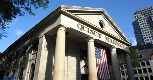 Eat lots of food at Quincy Market and Faneuil Hall