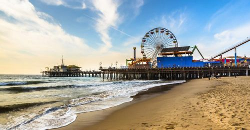Relax at the Santa Monica Pier