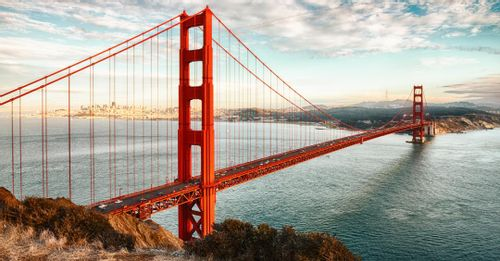 Take a photo at the Golden Gate Bridge