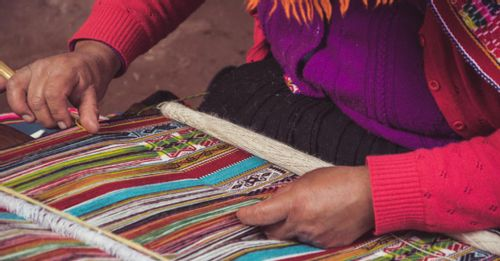 View the traditional weaving demonstrations to see how the intricate woven textiles get made