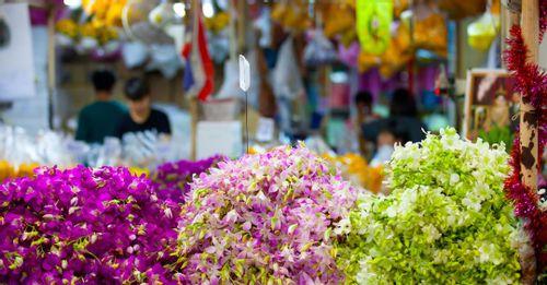 Pak Khlong Flower Talat Market - Bangkok