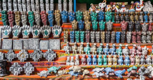 Visit the Witches' Market to learn about Bolivian rituals from witch doctors