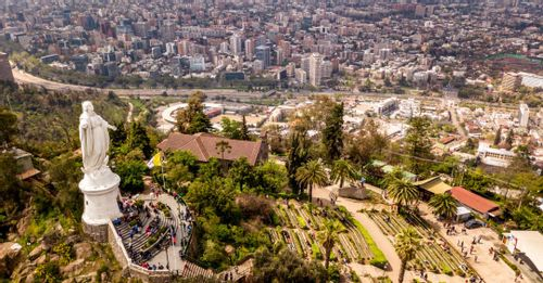 Climb to the top of San Cristobal Hill for the best viewpoint overlooking Santiago