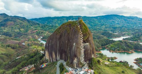 Enjoy the scenic views from atop La Piedra in Guatapé