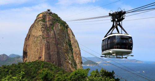 Take a cable car ride up to Sugarloaf Mountain for panoramic views of Rio de Janeiro