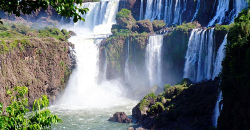 Hike to the Iguassu Falls to hear the roaring water