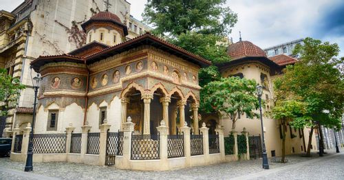 Visit the Stavropoleos Monastery in Bucharest