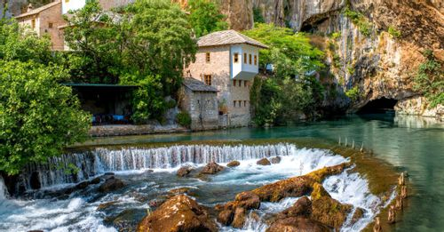 Take the short cave tour in Blagaj to see where the Buna River Spring originates