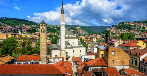 Visit the Gazi Husrev-beg Mosque to see the largest mosque in the Balkans