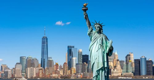 Take a ferry to the Statue of Liberty