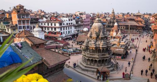 Admire the architecture surrounding the historic Kathmandu Durbar Square
