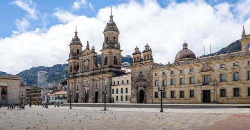 Start your sightseeing journey in Plaza Bolivar to explore the center of Colombia's capital