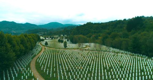 Reflect on the tragedies of the Srebrenica Massacre at the Srebrenica Memorial Center