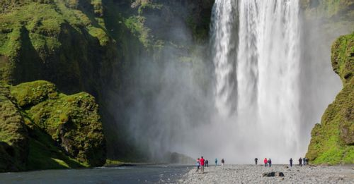 Marvel at the Skogafoss Waterfall